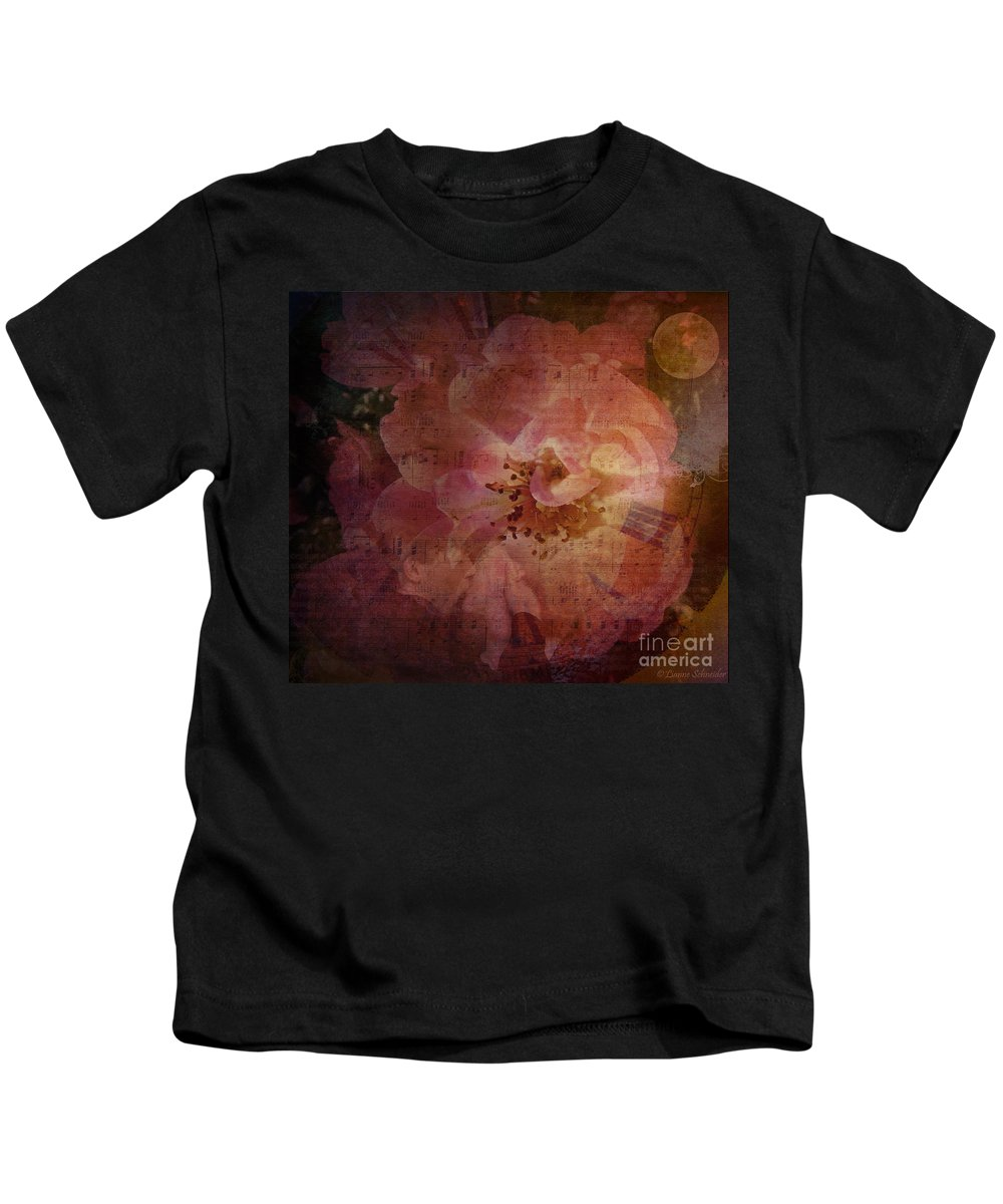 Roses Kids T-Shirt featuring the digital art As Time Goes By by Lianne Schneider