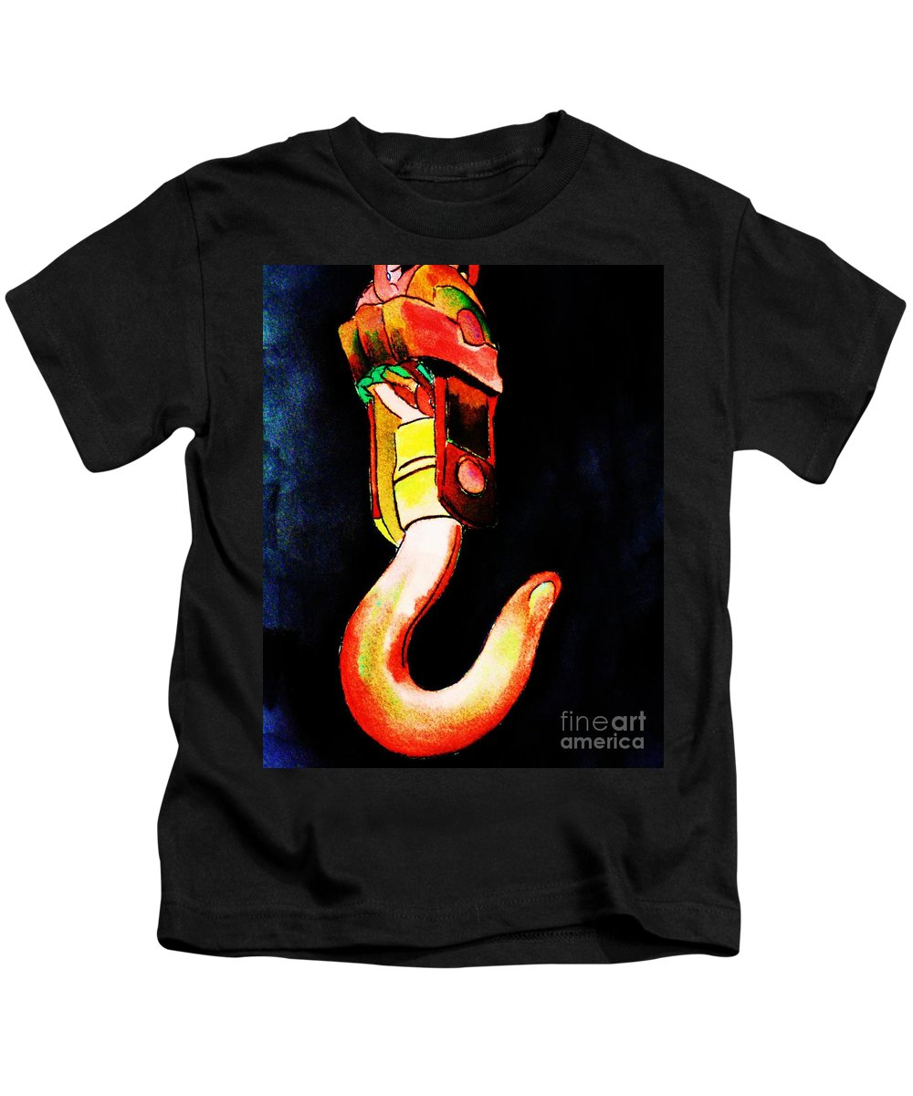 Asarco Kids T-Shirt featuring the painting Asarco Powerhouse Hook by Melinda Etzold
