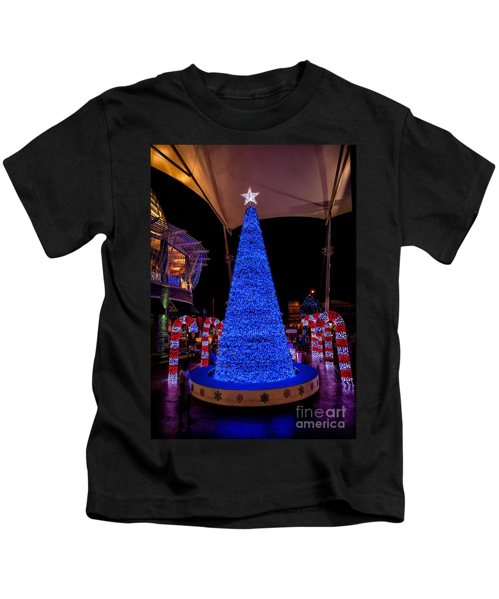 Hdr Kids T-Shirt featuring the photograph Asian Christmas Display by Adrian Evans