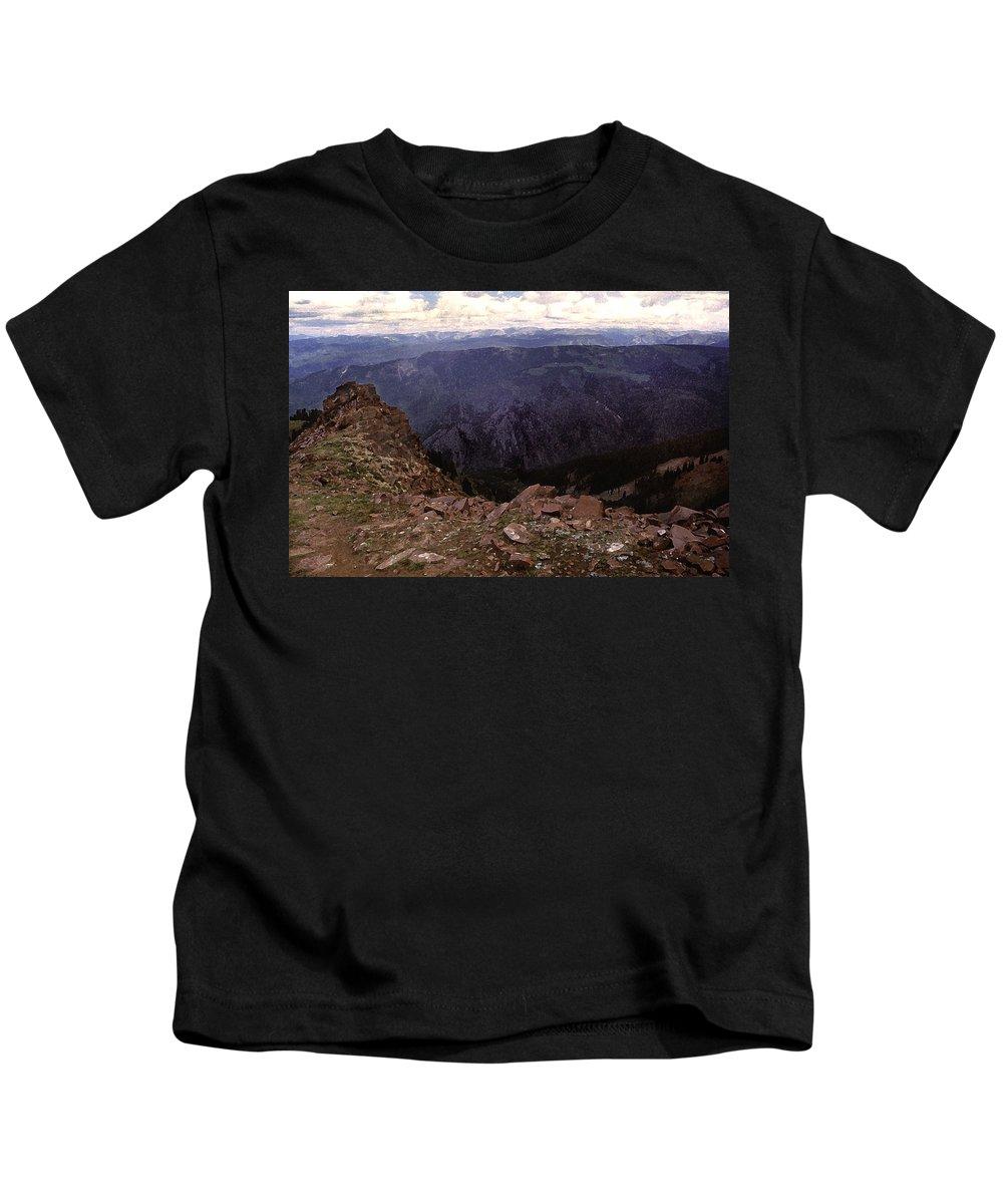 Mountains Kids T-Shirt featuring the photograph Aspen Highlands by Steve Archbold