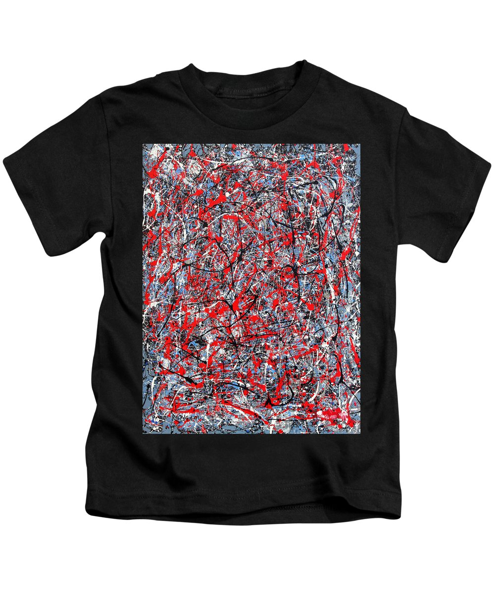 Abstract Kids T-Shirt featuring the painting Astral Gate 2001 by RalphGM