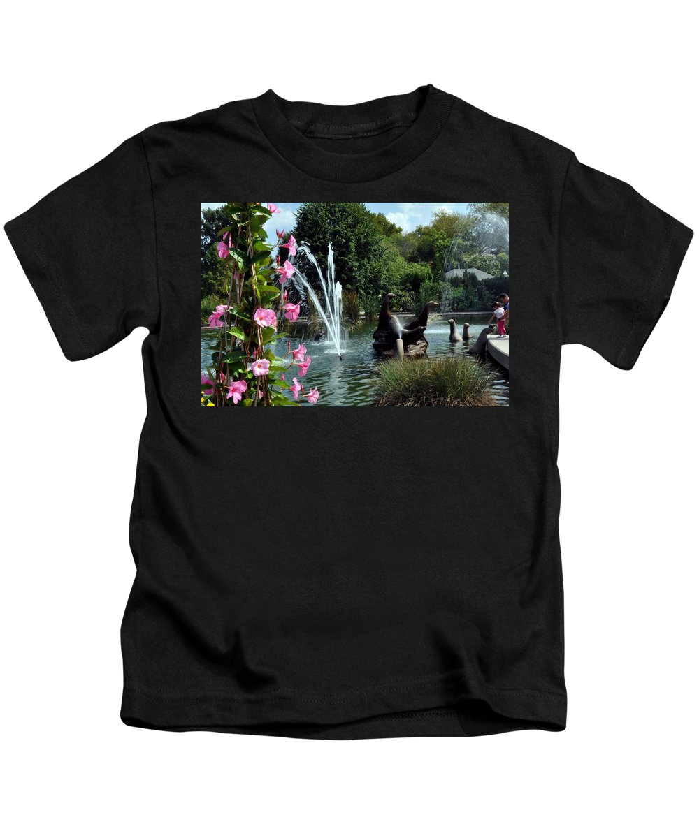 Landscape Kids T-Shirt featuring the photograph At The Zoo by Marty Koch