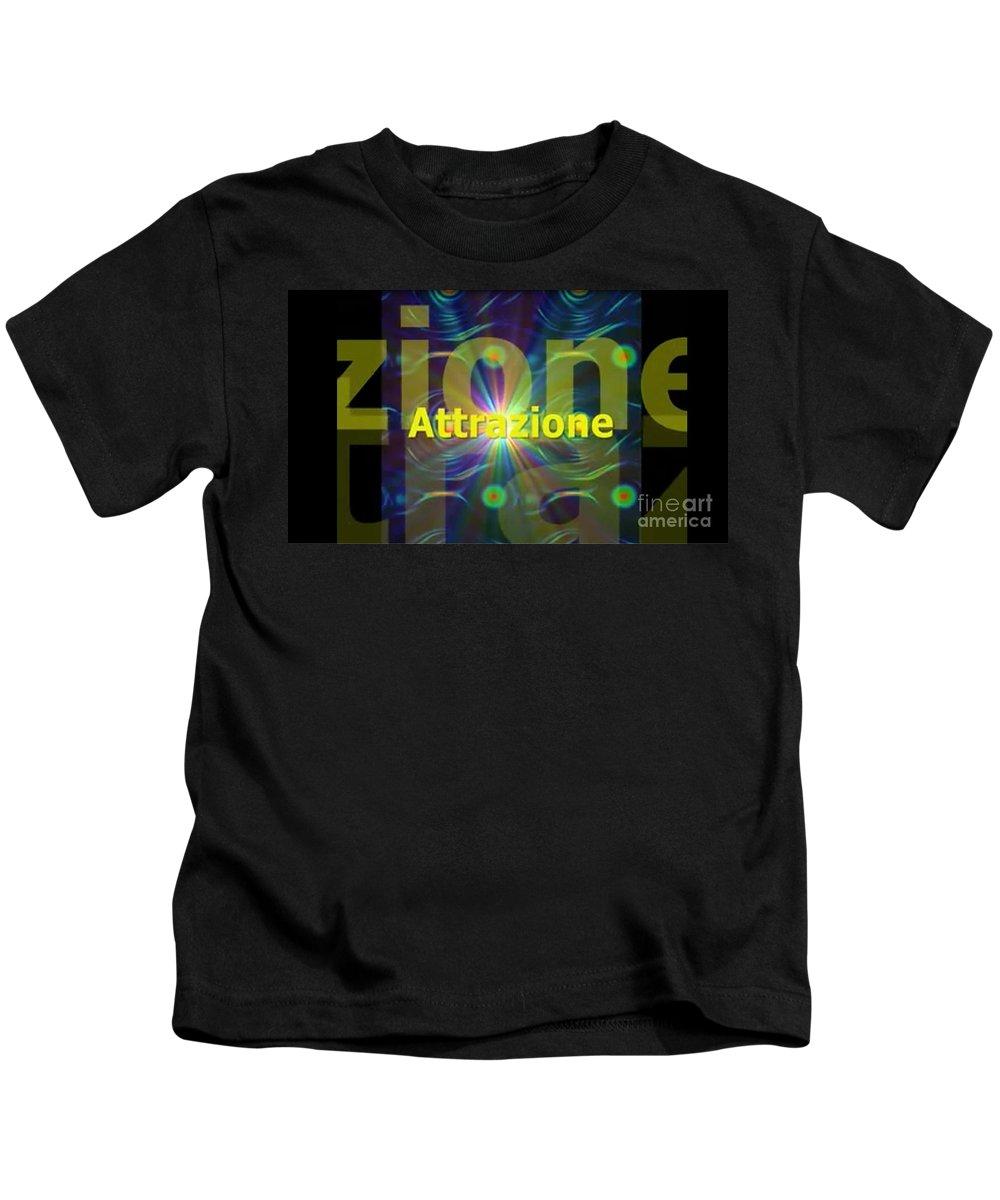 Arc Kids T-Shirt featuring the digital art Attrazione by Archangelus Gallery