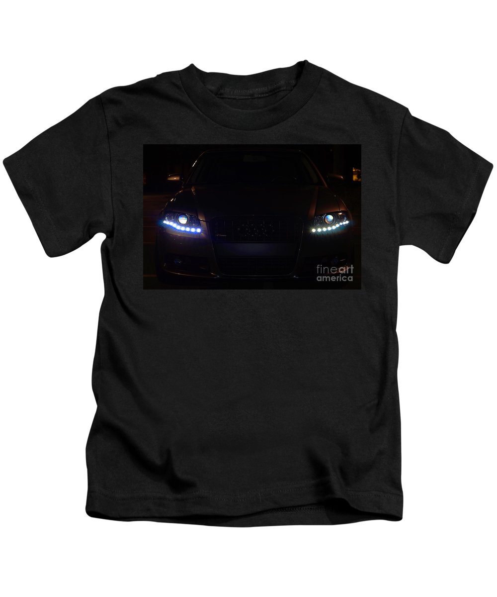 Kids T-Shirt featuring the photograph Audi 4 by Ronald Chacon