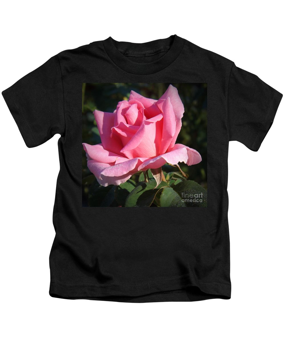 Flowers Kids T-Shirt featuring the photograph Aunt Honey Rose by Sara Raber