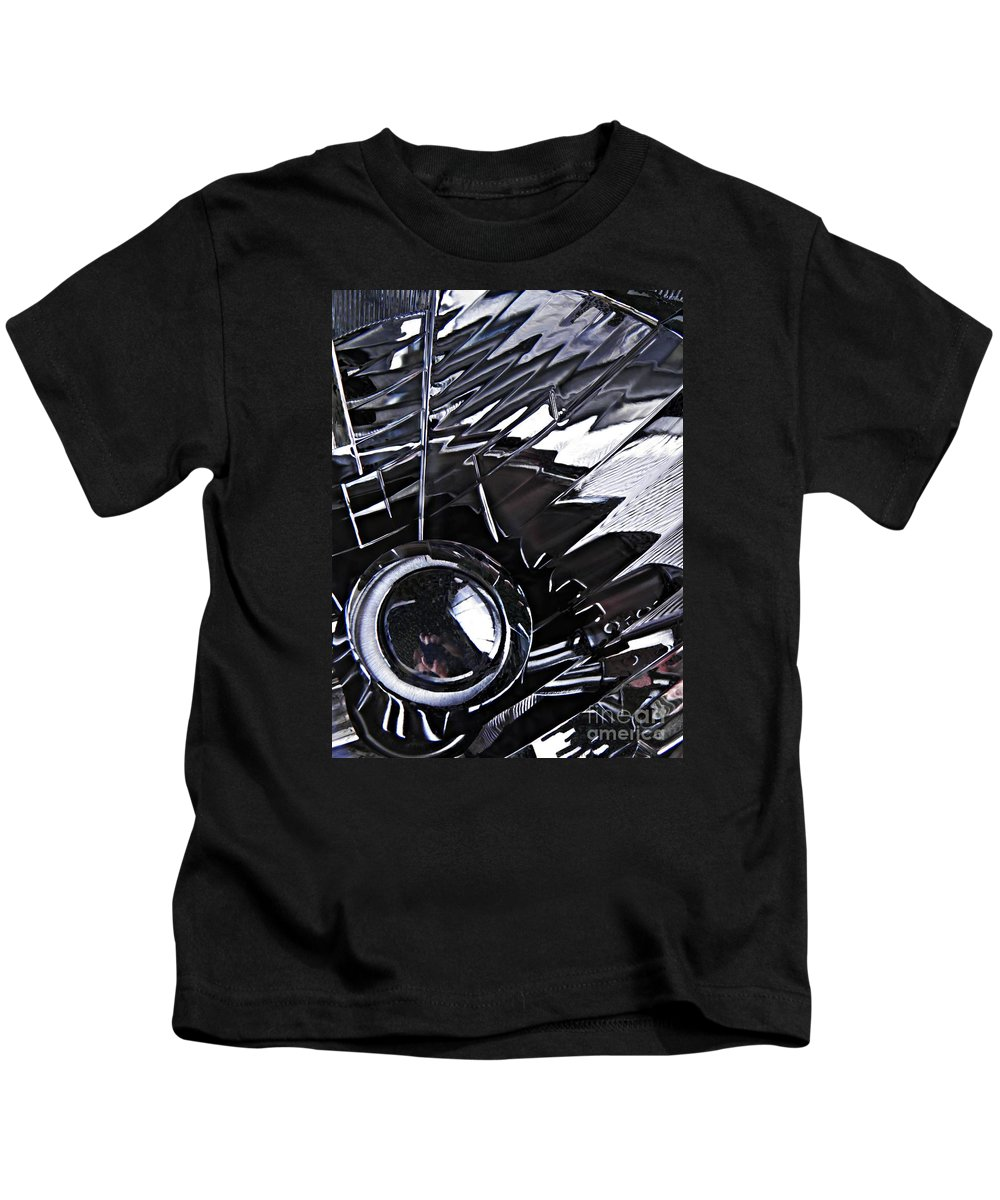 Headlight Kids T-Shirt featuring the photograph Auto Headlight 65 by Sarah Loft