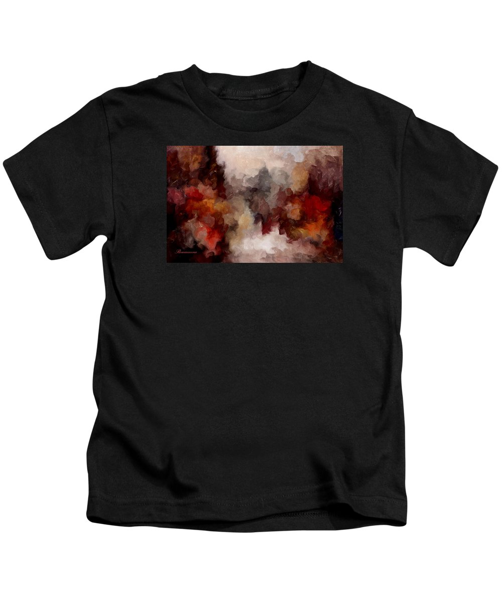 Abstract Kids T-Shirt featuring the mixed media Autumn Abstract by Georgiana Romanovna