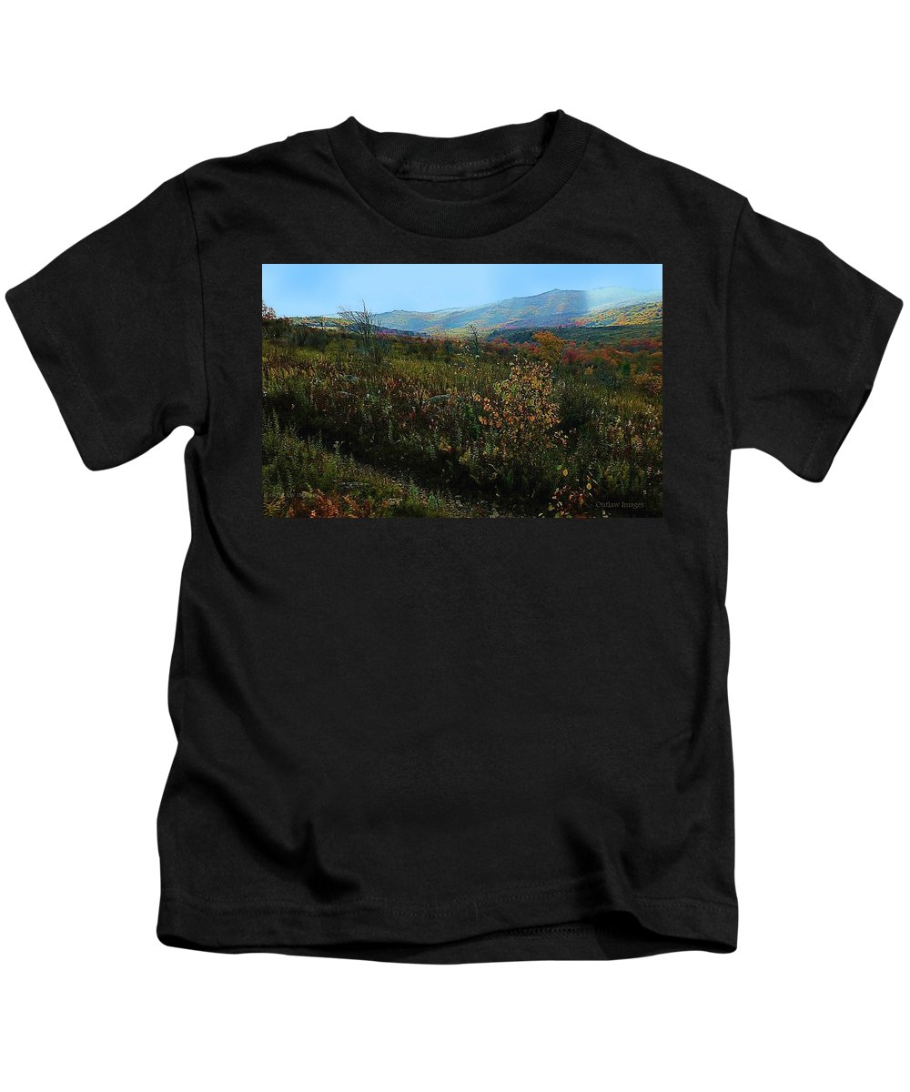Mountain Kids T-Shirt featuring the photograph Autumn At Mt Rogers by Holly Dwyer
