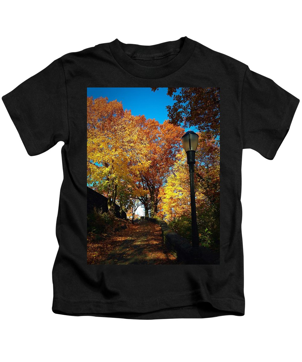 Red Kids T-Shirt featuring the photograph Autumn Colors by Ydania Ogando