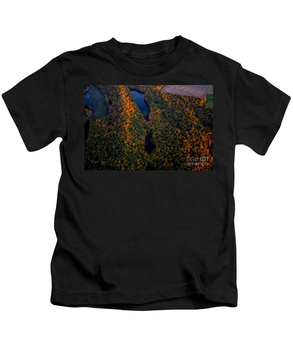 Trees Kids T-Shirt featuring the photograph Autumn Colours by Urbanmoon Photography