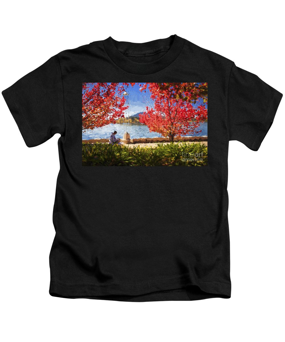Autumn Kids T-Shirt featuring the photograph Autumn in Canberra by Sheila Smart Fine Art Photography