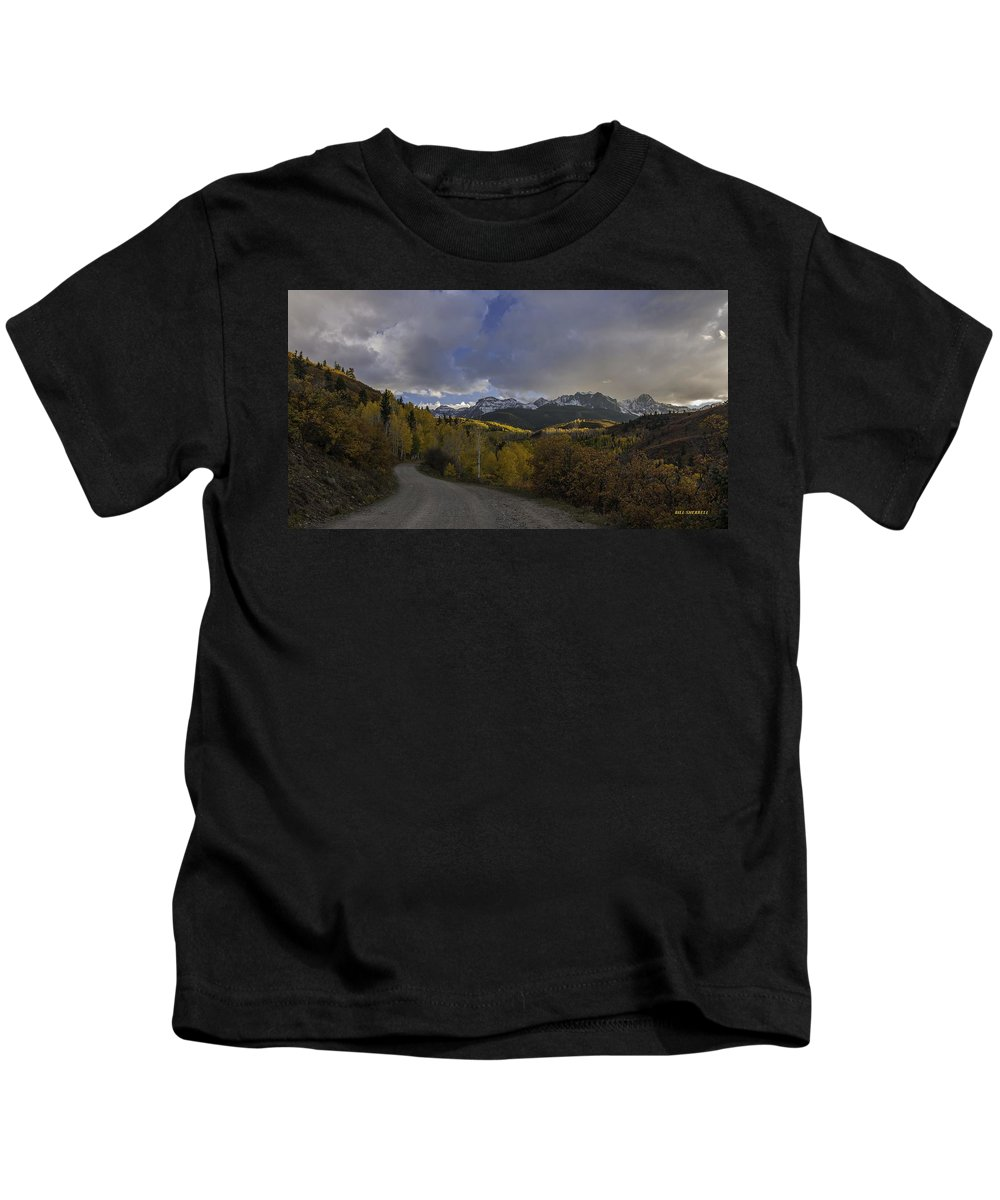 Landscape Kids T-Shirt featuring the photograph Autumn Journey by Bill Sherrell