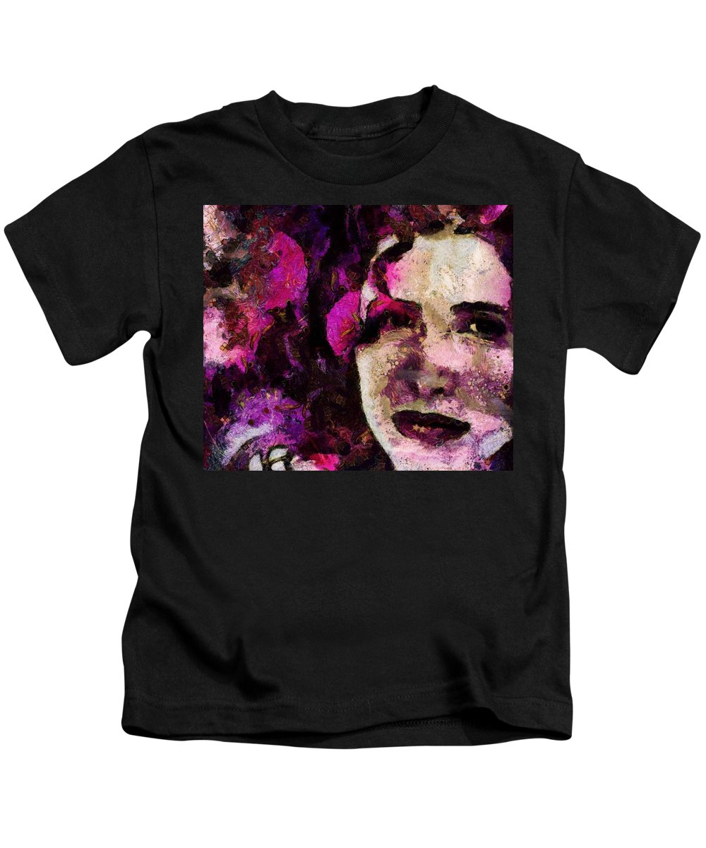 Pink Kids T-Shirt featuring the painting Azaela by Janice MacLellan