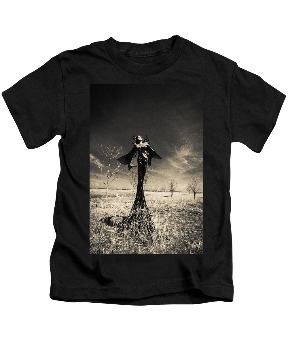 Kids T-Shirt featuring the photograph B And W by Sue Conwell