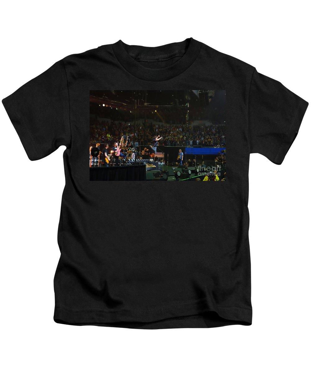 Pearl Jam Kids T-Shirt featuring the photograph Baba O'riley by Linda De La Rosa