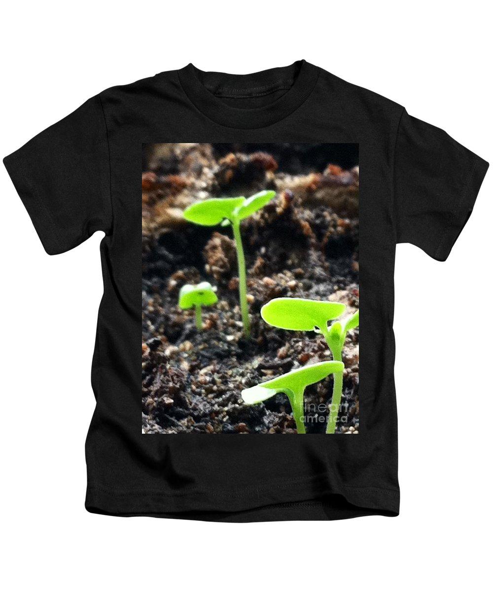 Basil Kids T-Shirt featuring the photograph Baby Basil by Michael Krek