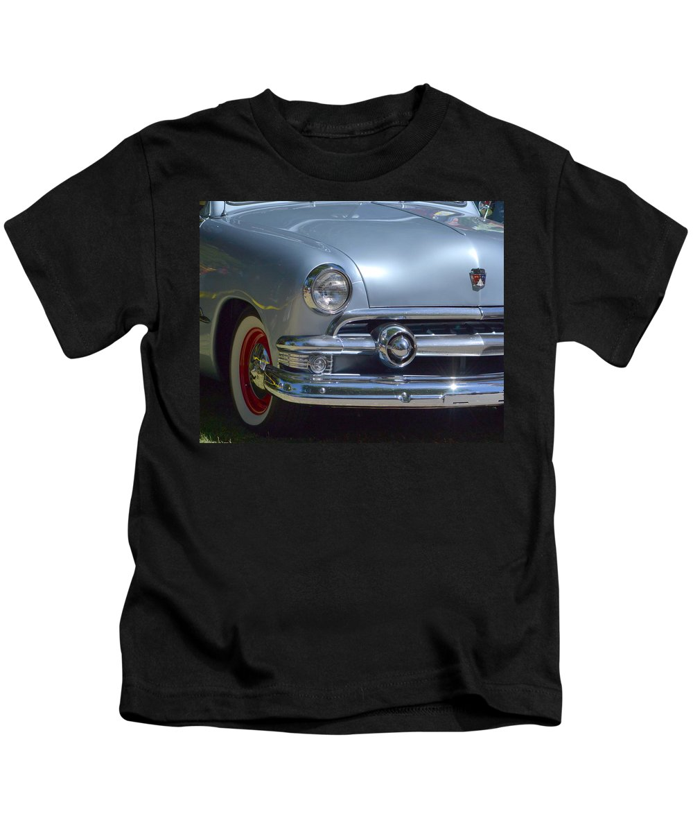 Blue Kids T-Shirt featuring the photograph Baby Blue Ford by Dean Ferreira