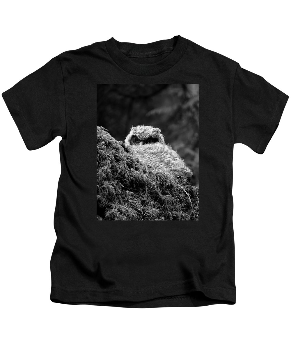 Owl Kids T-Shirt featuring the photograph Baby Owl 3 by Bec Thomas