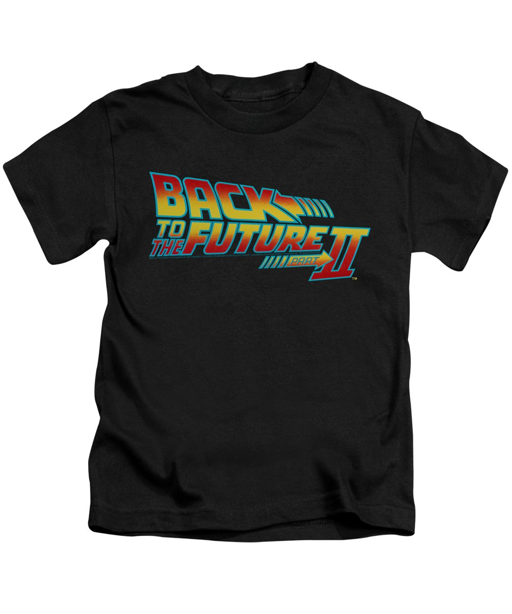 Kids T-Shirt featuring the digital art Back To The Future II - Logo by Brand A