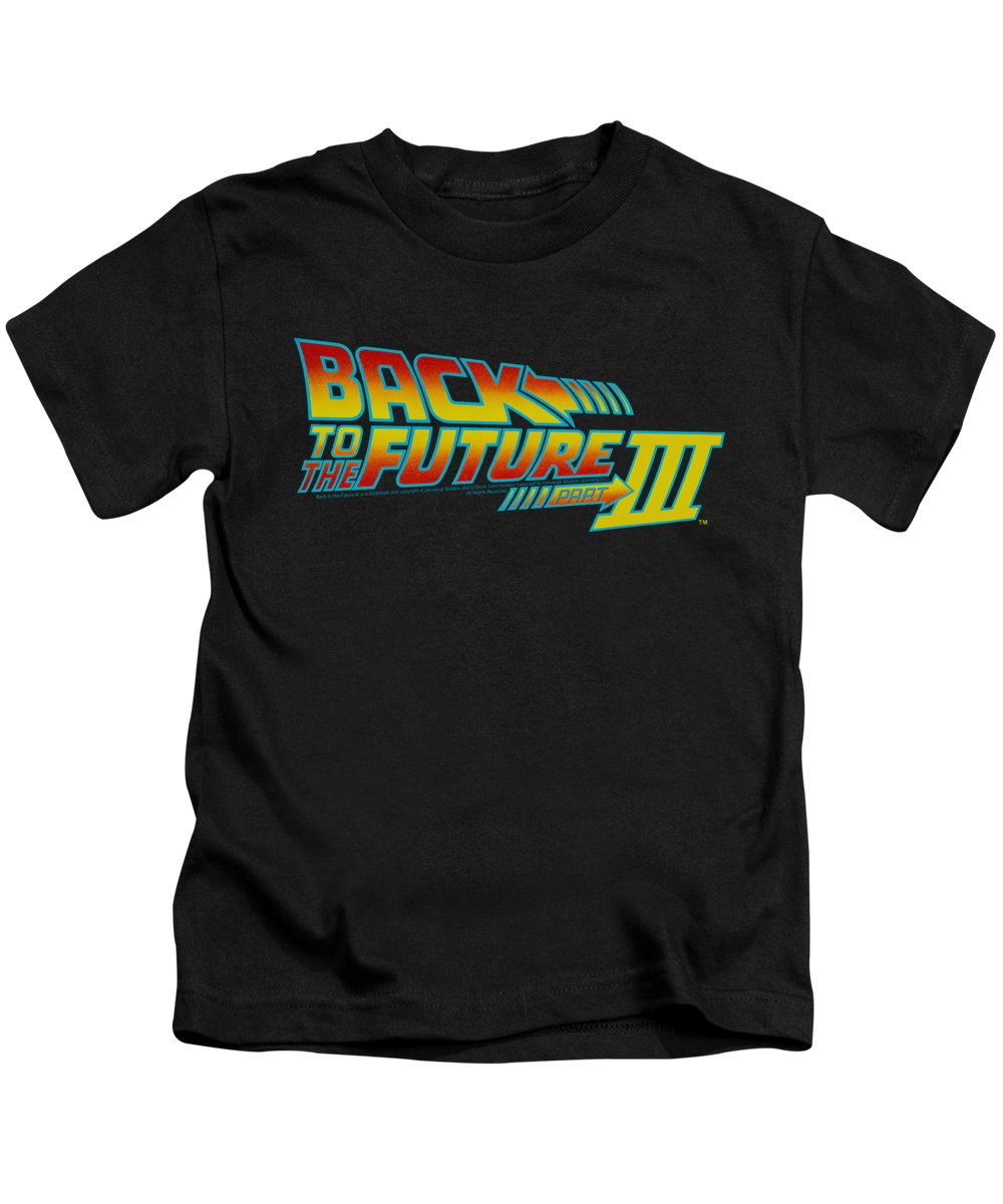 Kids T-Shirt featuring the digital art Back To The Future IIi - Logo by Brand A