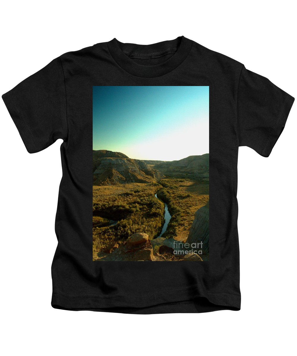 Coulee Kids T-Shirt featuring the photograph Badlands Coulee by Matthew Naiden