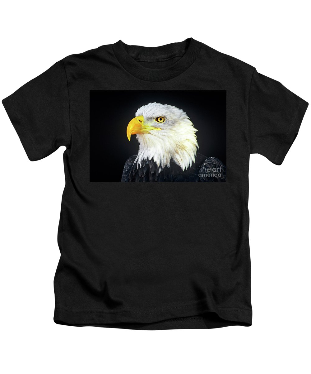 Bald Eagle Kids T-Shirt featuring the photograph Bald Eagle Hailaeetus Leucocephalus Wildlife Rescue by Dave Welling