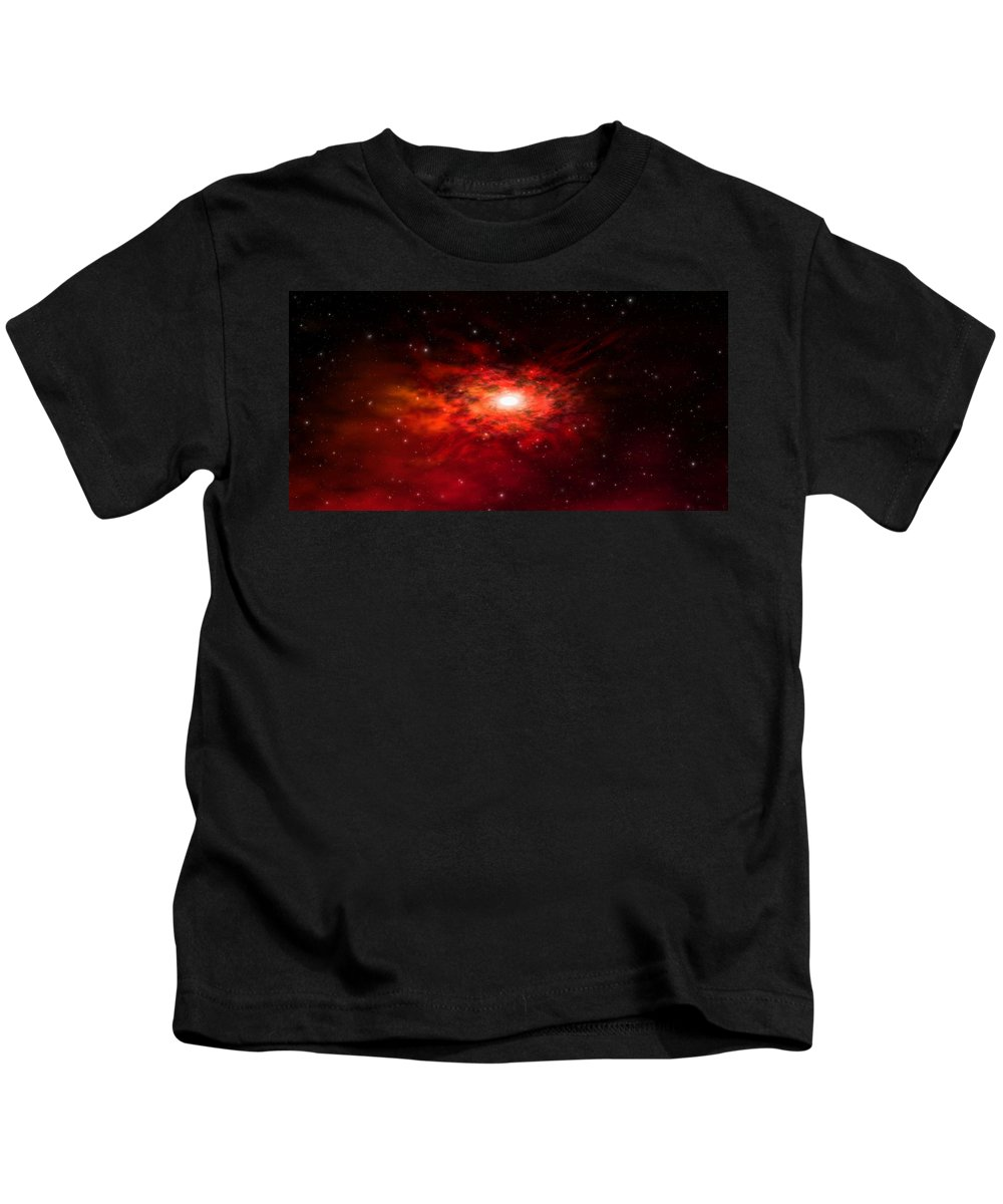 Kids T-Shirt featuring the digital art Balisa Nebula by Robert aka Bobby Ray Howle