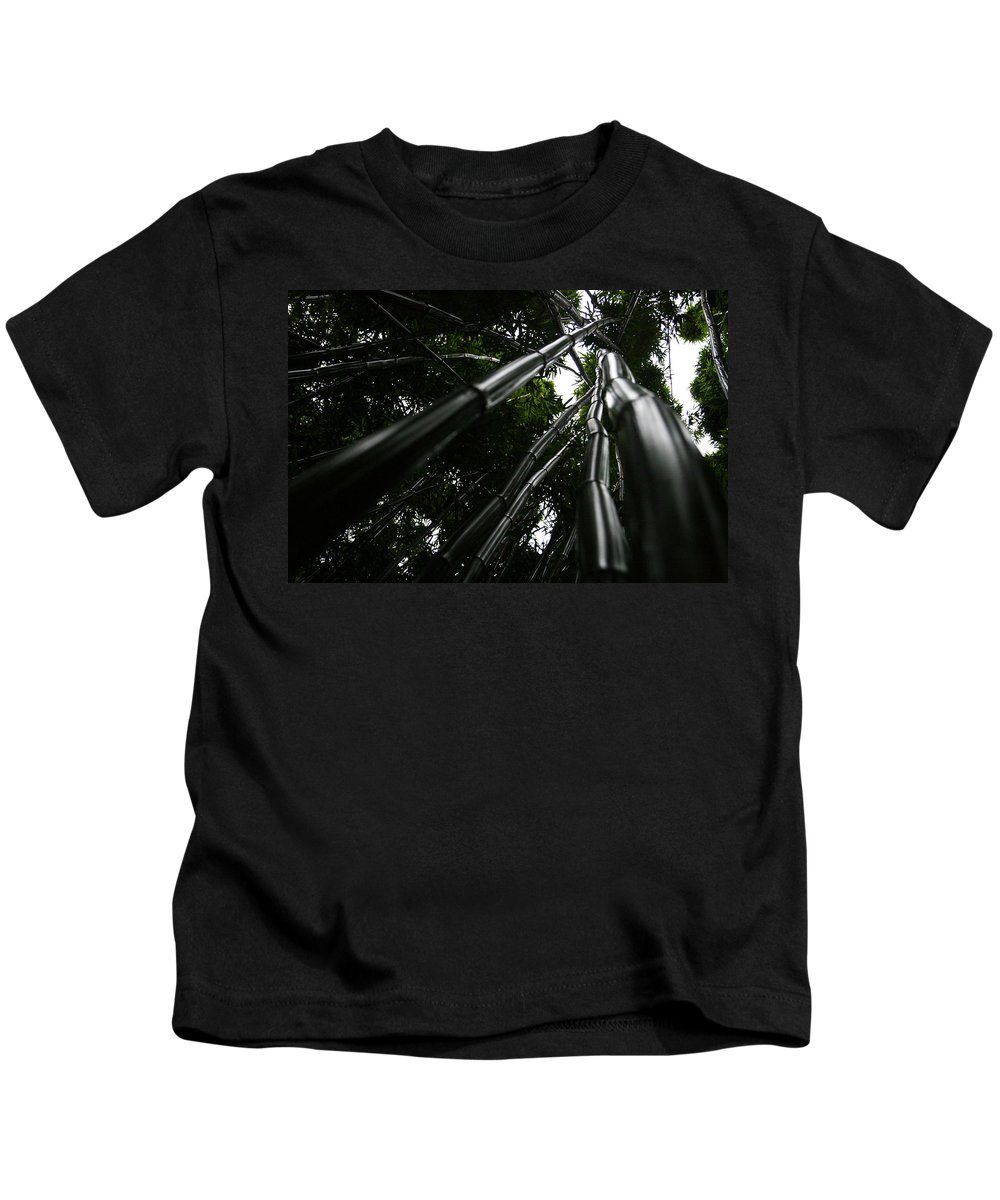 Bamboo Skies Kids T-Shirt featuring the photograph Bamboo Skies 4 by Jennifer Bright