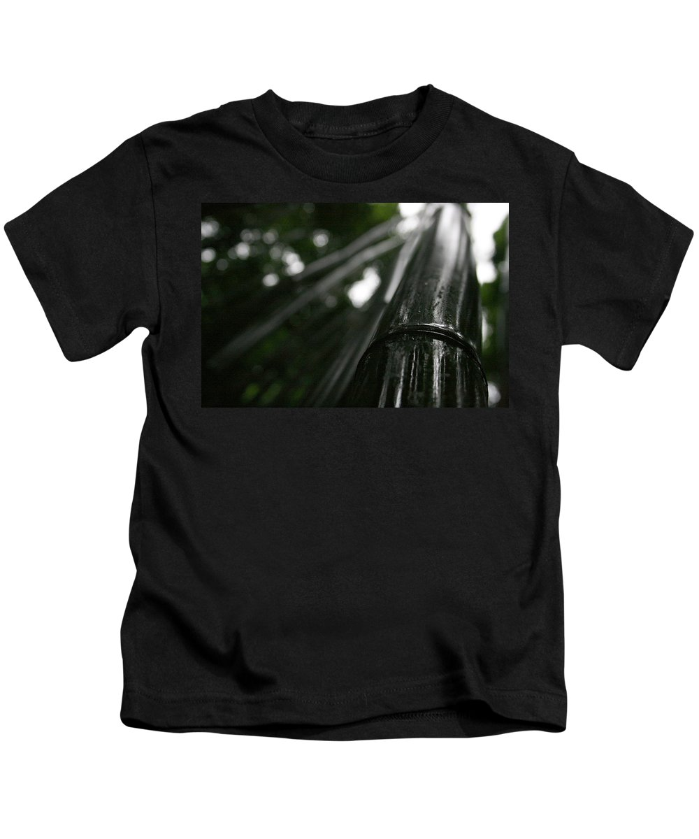 Bamboo Kids T-Shirt featuring the photograph Bamboo Skies 8 by Jennifer Bright