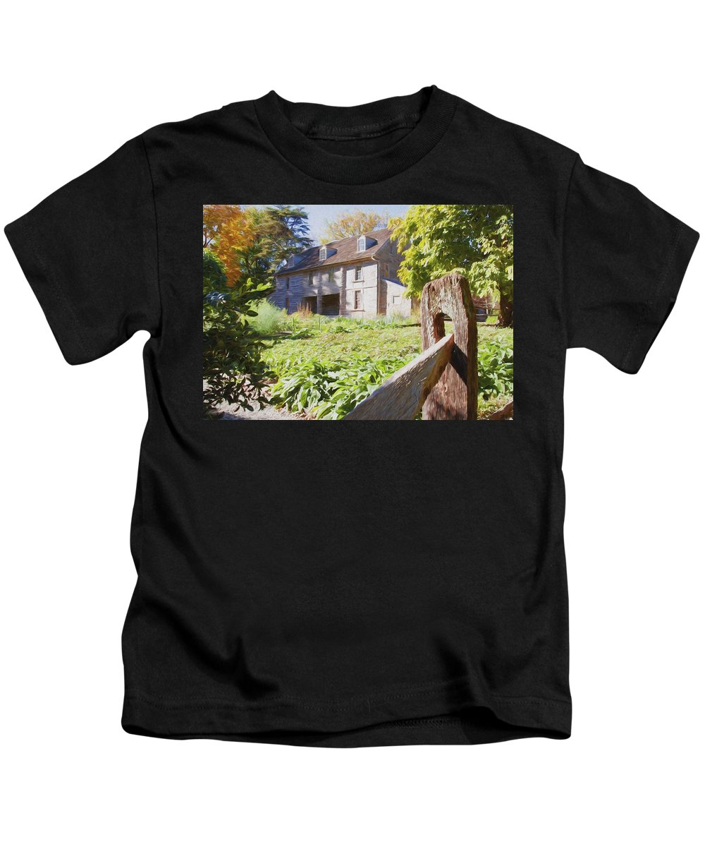 Bartrams Garden Kids T-Shirt featuring the photograph Bartrams Fence by Alice Gipson