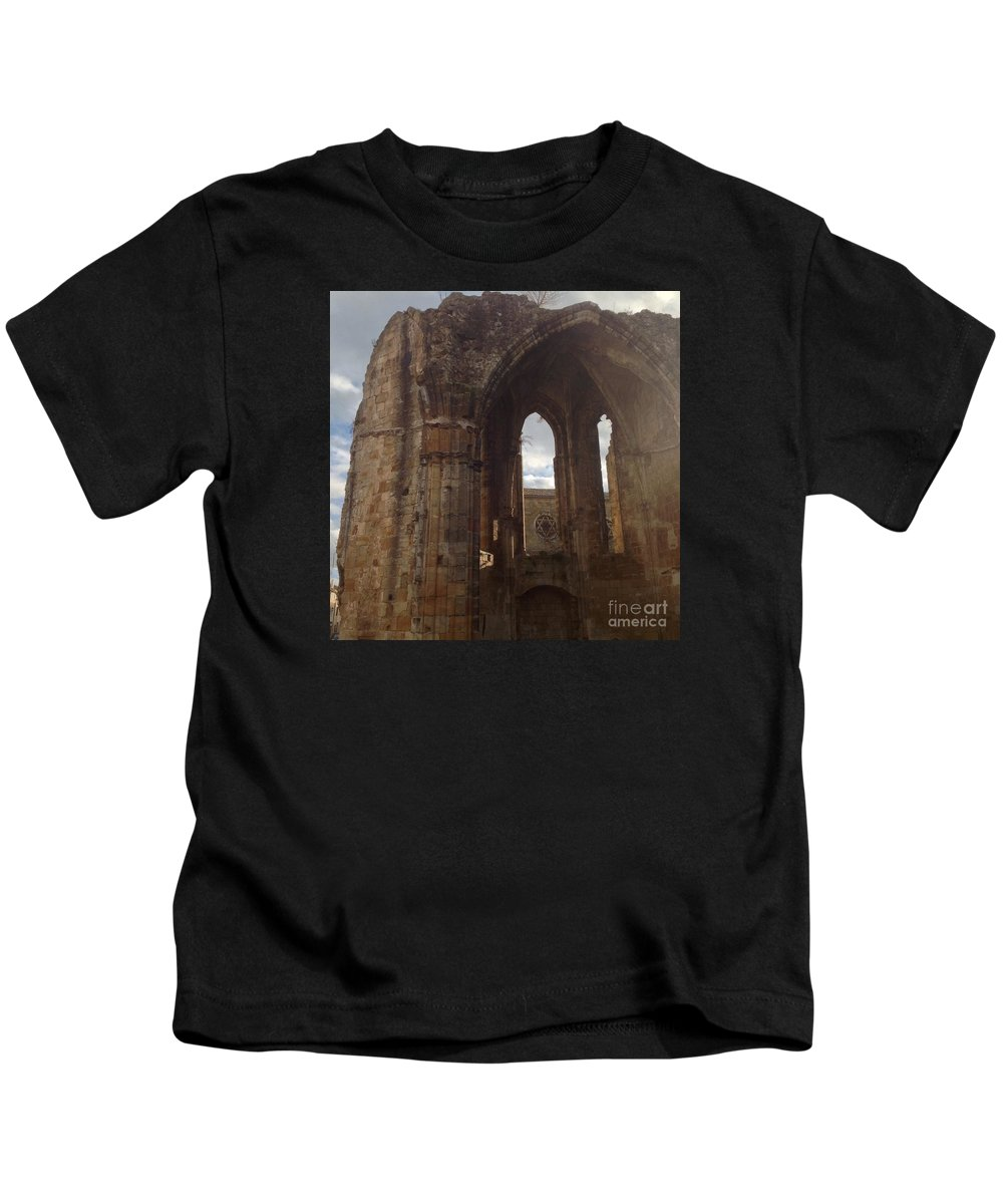 Alet-les-bains Kids T-Shirt featuring the photograph Battered But Standing by France Art