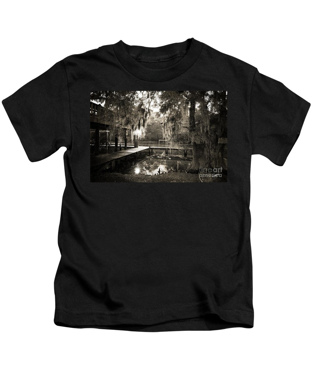 Swamp Kids T-Shirt featuring the photograph Bayou Evening by Scott Pellegrin