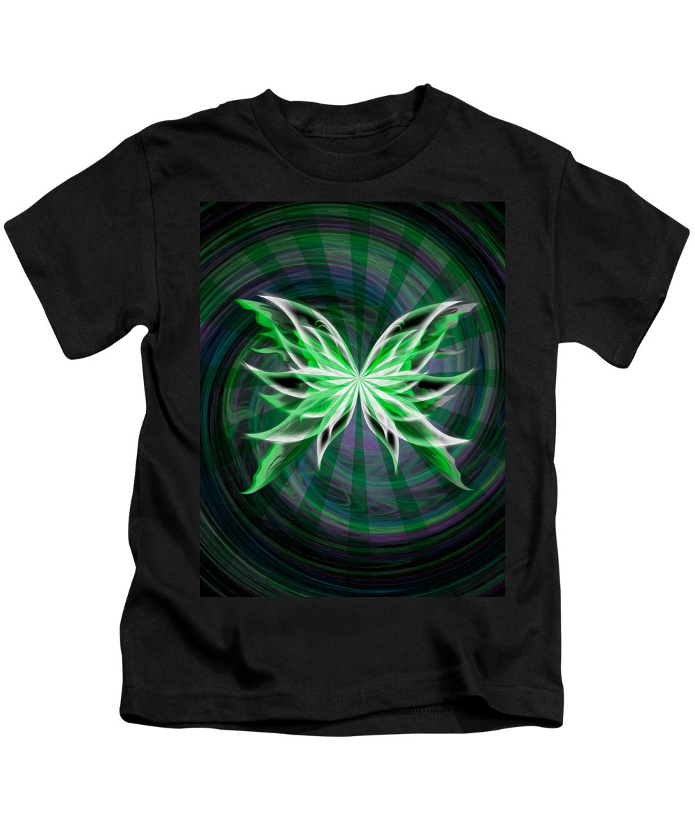 Butterfly Kids T-Shirt featuring the digital art Beams Of Envy by Teri Schuster