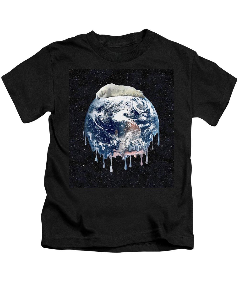 Bear Kids T-Shirt featuring the digital art Bear Hug by Gravityx9 Designs