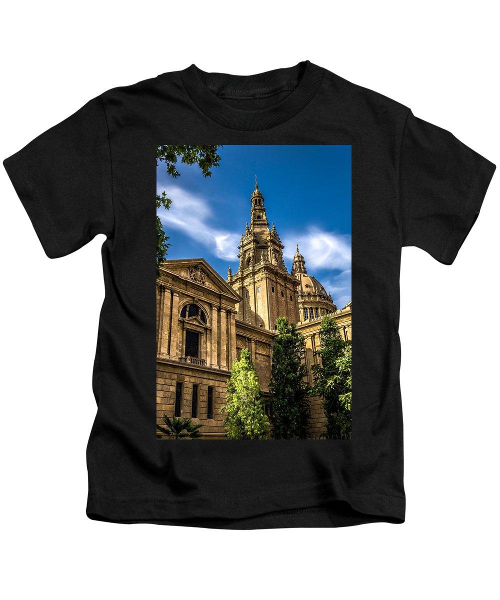 Spain Kids T-Shirt featuring the photograph Beautiful Barcelona by Sotiris Filippou