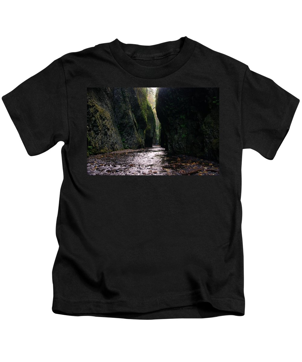 Water Kids T-Shirt featuring the photograph Beautiful Gorge by Jeff Swan