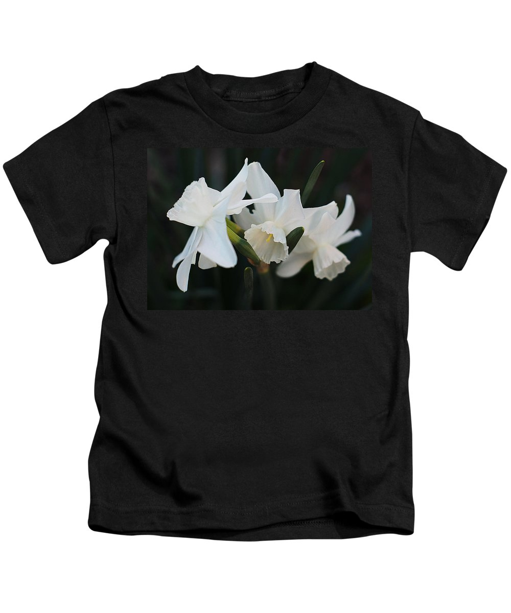 White Daffodils Kids T-Shirt featuring the photograph Beautiful Morning by Ira Shander