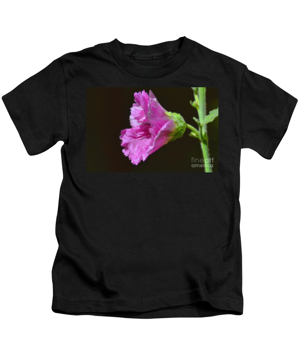Fine Art Kids T-Shirt featuring the photograph Beautiful Purple Flower by Donna Greene