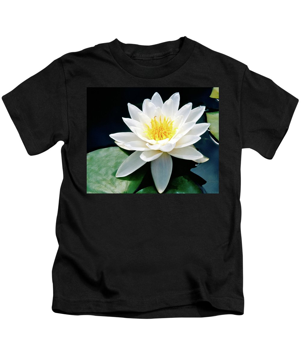 Water Lily Kids T-Shirt featuring the photograph Beautiful Water Lily Capture by Ed Riche