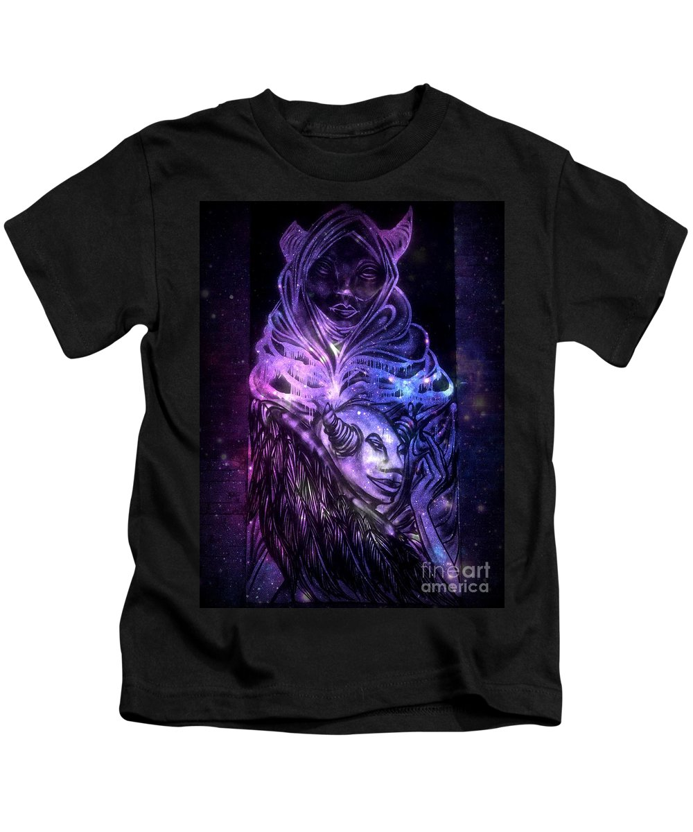 Kids T-Shirt featuring the photograph In The Comfort Of Her Embrace by Kelly Awad