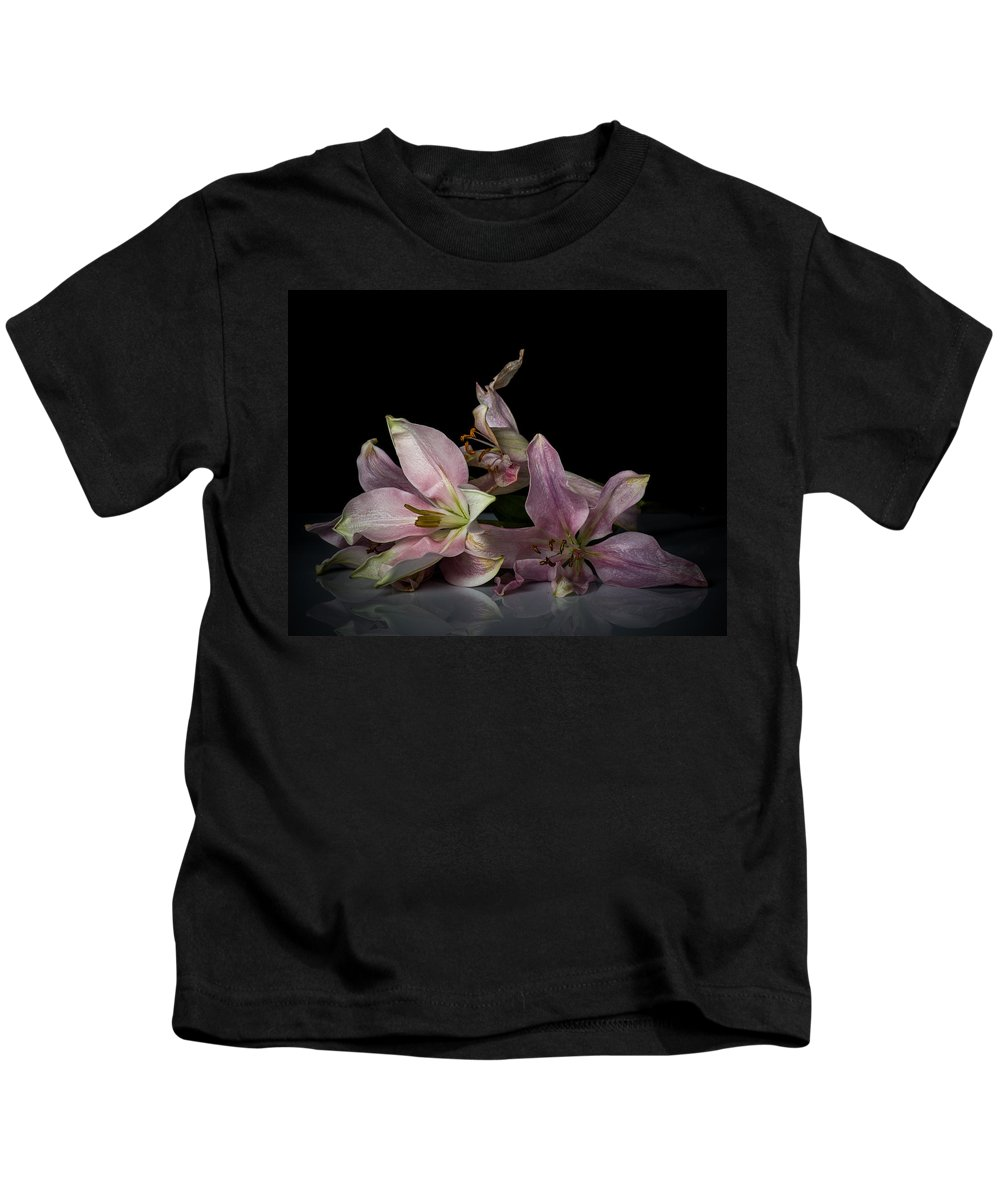 Floral Kids T-Shirt featuring the photograph Beauty Of Decaying Lilies by James Gamble