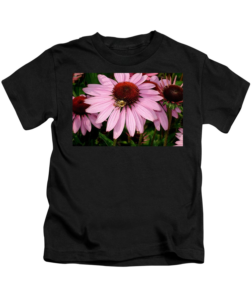 Flowers Kids T-Shirt featuring the photograph Bee Mine by Mary Marsh