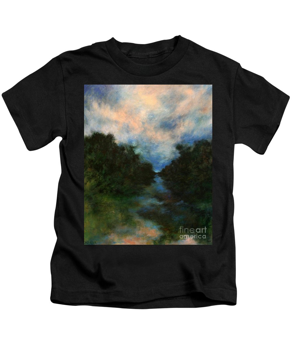 Impressionist Landscape Kids T-Shirt featuring the painting Before The Dream by Alison Caltrider