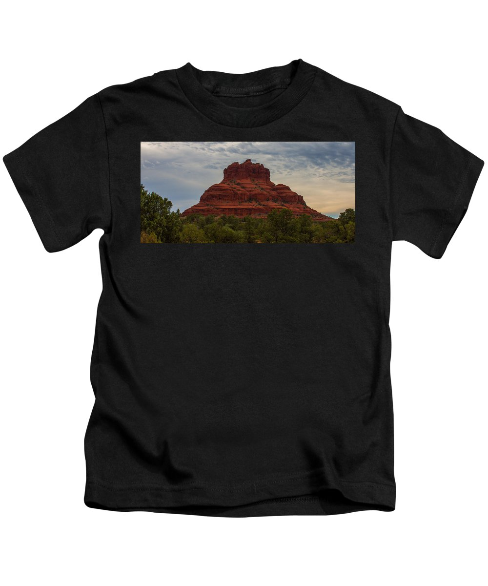 Sunrise Kids T-Shirt featuring the photograph Bell Rock In Sedona by Kathleen Odenthal
