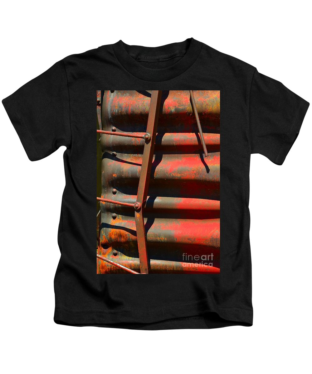 Abstract Kids T-Shirt featuring the photograph Bent Out Of Shape by Lauren Leigh Hunter Fine Art Photography