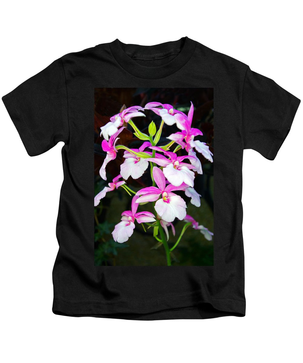 Orchids Kids T-Shirt featuring the photograph 'betty' Orchid by Rich Walter