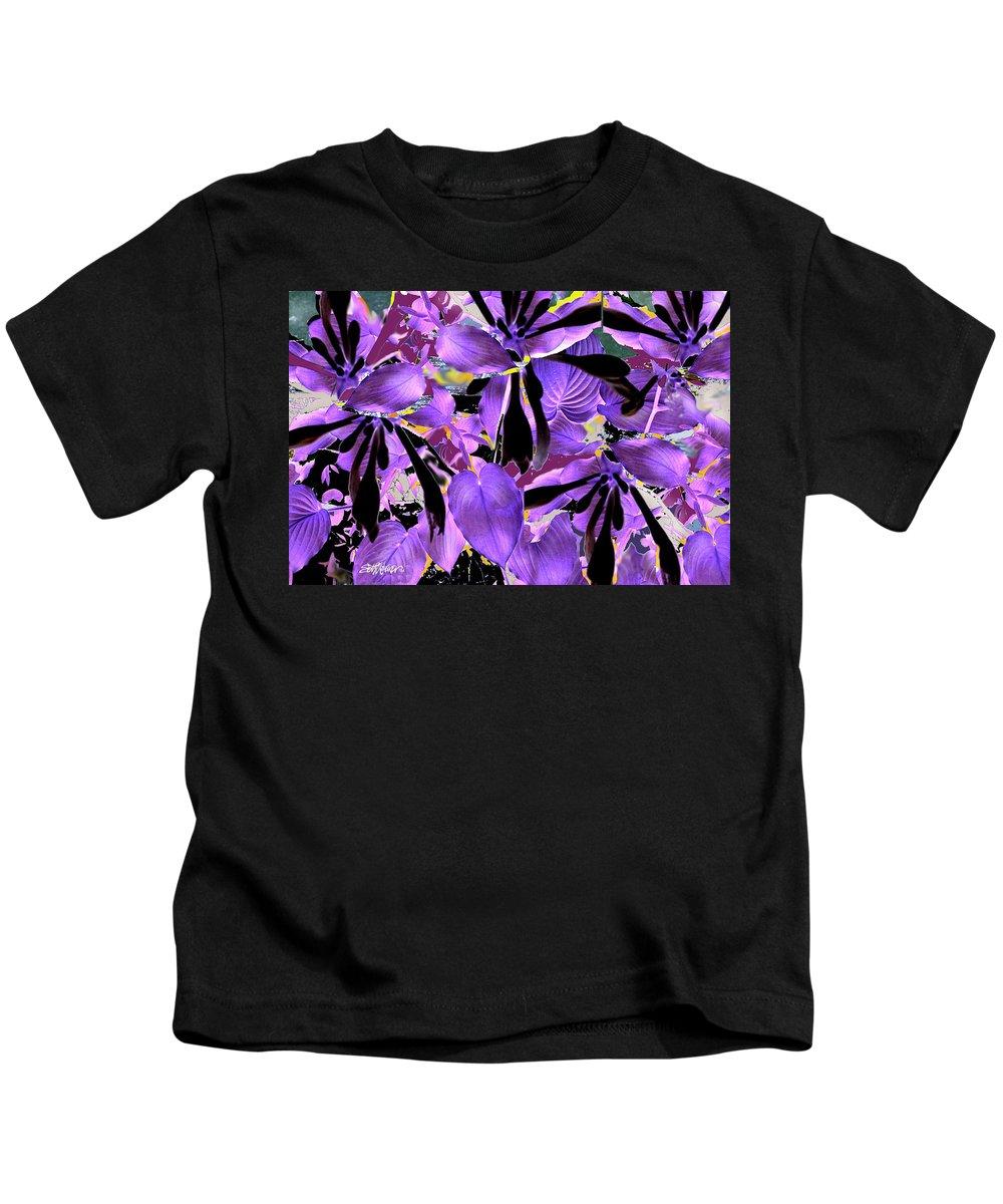 Beware The Midnight Garden Kids T-Shirt featuring the digital art Beware The Midnight Garden by Seth Weaver