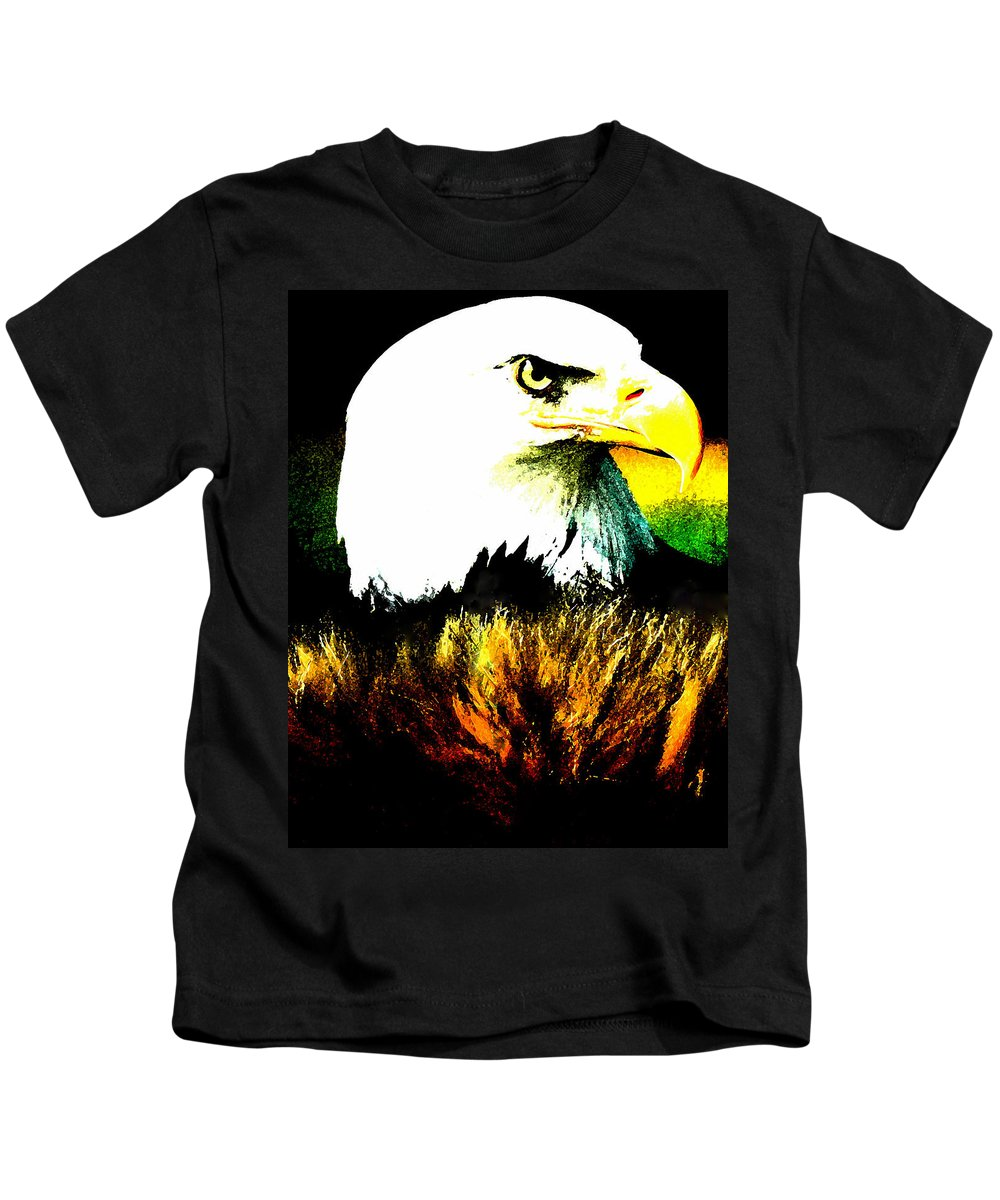 Colette Kids T-Shirt featuring the painting Beyond Eagle View by Colette V Hera Guggenheim