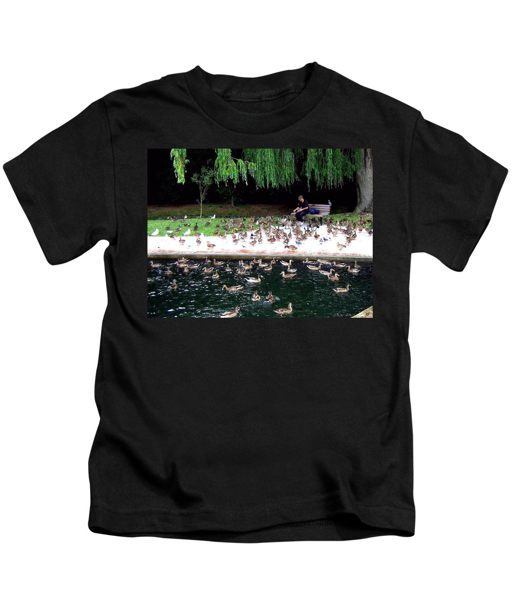 Wild Birds Kids T-Shirt featuring the photograph Bird Man by Will Borden