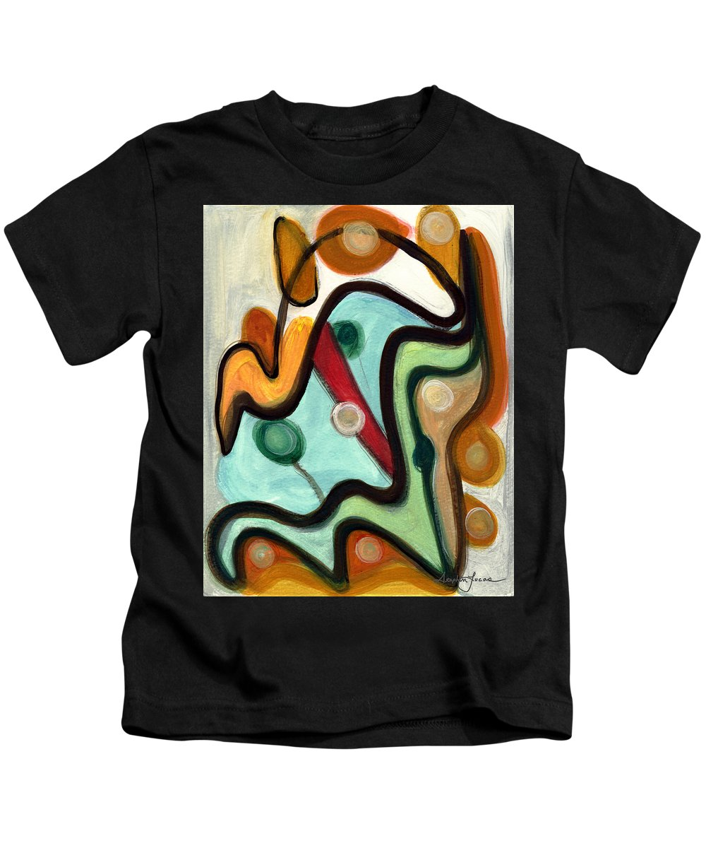 Abstract Art Kids T-Shirt featuring the painting Birds In Flight by Stephen Lucas